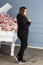 """Теплый женский спортивный костюм """"RIDER"""" с карманами и капюшоном (большие размеры), фото 2"""