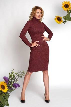 Платье  0370_3 бордовое, фото 2