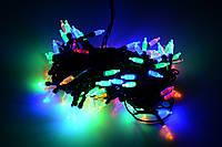 """Гирлянда светодиодная нить """"Колбочки"""", 100 led, 8м черный провод - цвет разноцветный"""