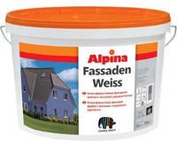 Краска дисперсионная ALPINA FASSADENWEISS фасадная, транспарентная (база В3), 9,4л