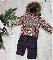 Зимний комбенизон 16-22 наполнитель холофайбер размеры от 80 до 98 полномерные, фото 1