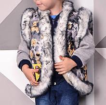 Жилетка дитяча для дівчаток Кролик з овечої вовни UkrCamo ЖДК3 8-9 років 136см