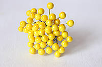 Глянцевые ягоды желтого цвета (калина) около 50 шт/уп., фото 1