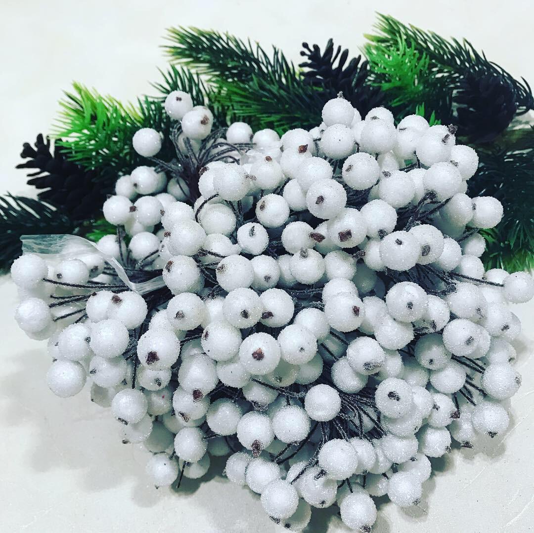 Декоративная сахарная ягода-Белая(40 шт)