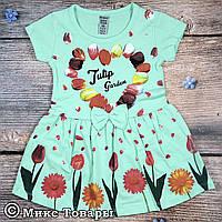 Детское платье с коротким рукавом Рост: 86,92,98,104,110 см (7577-1)