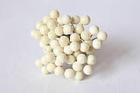 Глянцевые ягоды молочного цвета (калина) 50 шт/уп., фото 1
