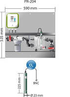Станция дозированияPR-204 Idegis  Интегрированные панели управления контрольная  уровня свободного хлора (ppm)