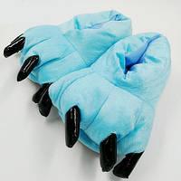 Плюшевые Тапочки Кигуруми Лапы (Blue)