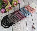 Плотные качественные резинки для волос цветные 60 шт/уп., фото 2