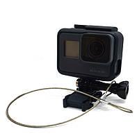 Страховочный металлический ремешок для GoPro (длина 30 см), фото 1
