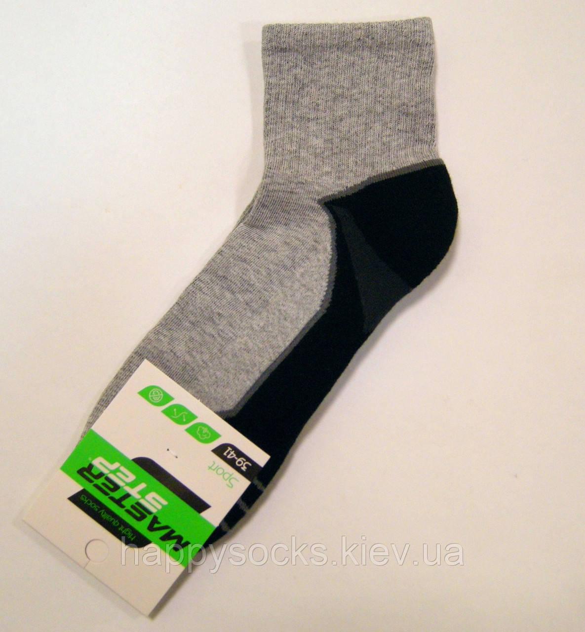Хлопковые носки мужские с махровой стопой