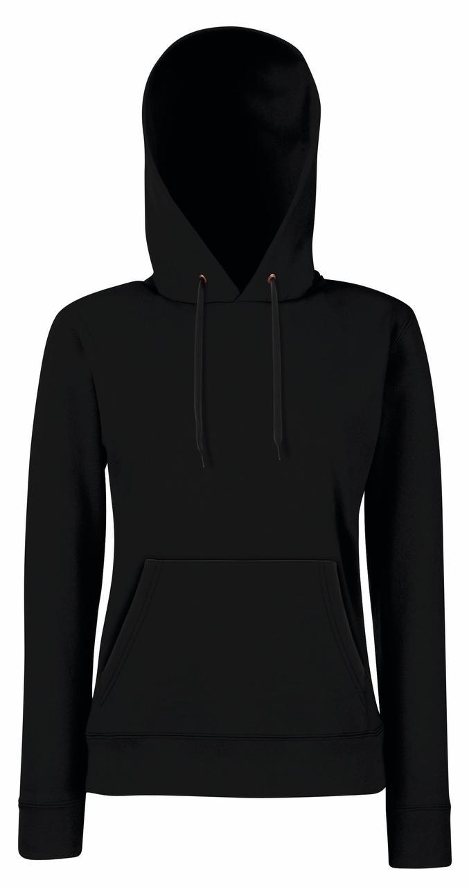 Толстовка женская приталенная с капюшоном Lady-Fit Hooded Sweat, XS (38-40), Чёрный