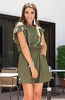 Женский комбинезон цвета хаки с воланами. Модель 18720, размер 42/44