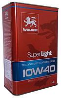 Моторное масло полусинтетика Wolver (Вольвер) Super Light 10w40 4л