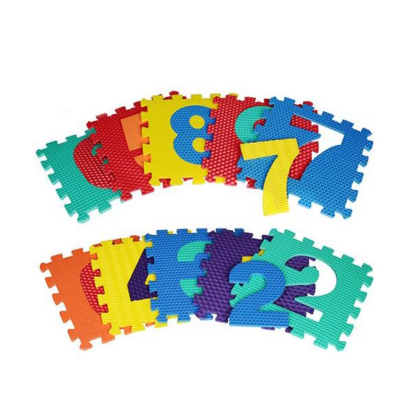 Коврик-пазл Цифры и фигуры Bambi M 2608 Разноцветный (intM 2608)