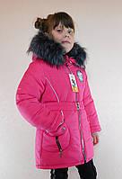 """Зимняя куртка для девочки малиновая,  бренд Svik, модель """"Снежинка"""". Размеры:  28, 30, 32, 34"""