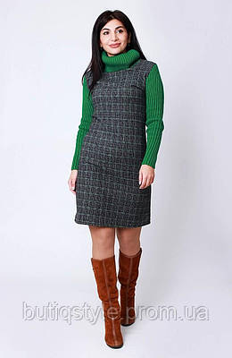Кашемировое женское платье с довязом