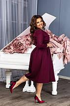 """Приталенное миди-платье на запах """"Lamina"""" с карманами (большие размеры), фото 3"""