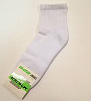 Носки мужские однотонные с махровой стопой белого цвета