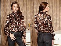 Шелковая женская блуза леопардовая 3113206, фото 1