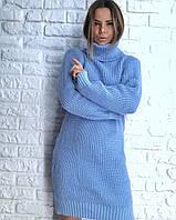 Прямое вязаное платье с высокой горловиной 3032062, фото 1