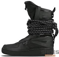 Женские кроссовки Nike SF Air Force 1 Hi (Black/Dark)