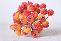 Сахарные ягодки 38-40 шт/уп. желтого цвета с красным бочком цвета, фото 1