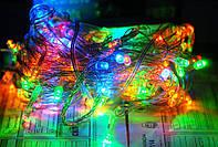 Гирлянда светодиодная 100 LED 8м разноцветная мульти 4 цвета внутренняя .