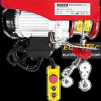 Тельфер 500 кг / 250 кг, 6/12 м Boxer BX-562 электрический тельфер, канатная электроталь электрическая лебёдка, фото 1