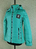 """Демисезонная куртка жилет для девочки """"Вика""""32,34,36,38  бирюза бренд SVik"""
