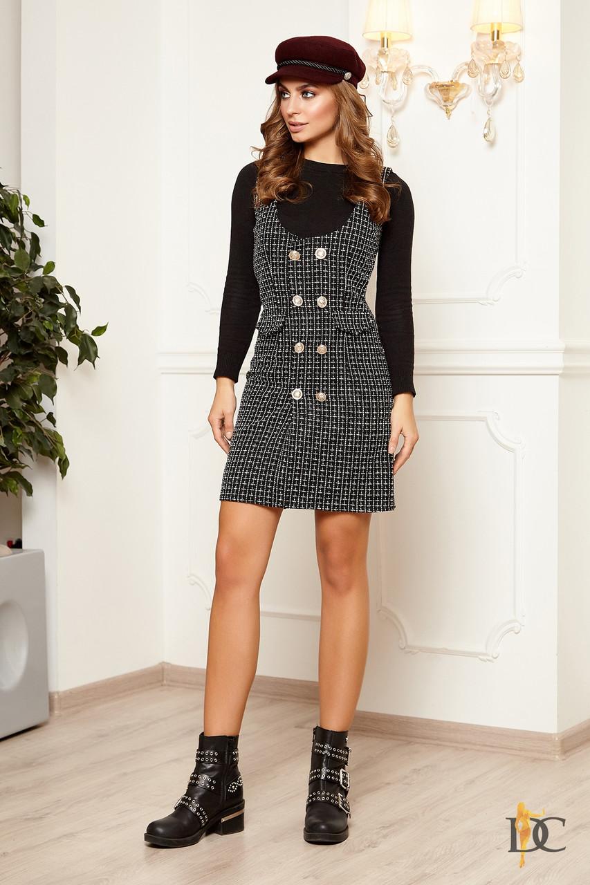 Буклированное платье облегающее выше колена 31032069