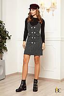 Буклированное платье облегающее выше колена 31032069, фото 1