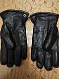 Натуральная кожа с Овчина Мех-Цельная Мужские перчатки/Перчатки мужские кожаные, фото 3