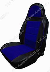Чехлы на сиденья ВАЗ Нива Тайга (VAZ Niva Taiga) (модельные, экокожа, пилот) черно-синий