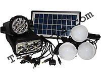 Солнечная мини электростанция GD Light GD-8007, солнечная батарея, фонарь кемпинговый, USB солнечное зарядное,