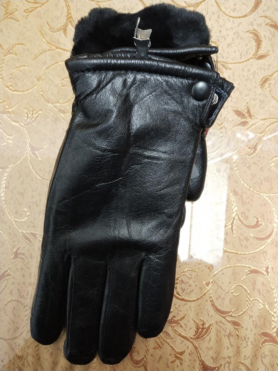 Натуральная кожа с Овчина Мех-Цельная Мужские перчатки/Перчатки мужские кожаные