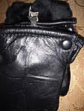 Натуральная кожа с Овчина Мех-Цельная Мужские перчатки/Перчатки мужские кожаные, фото 2