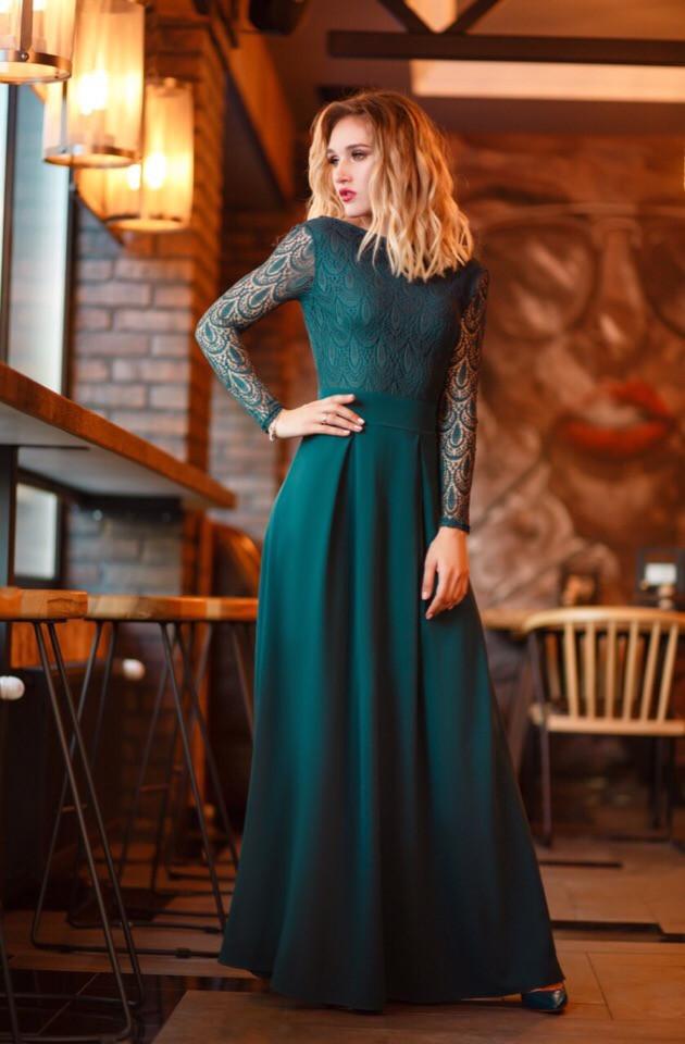 """Нарядное приталенное макси платье """"Ramira"""" с открытой спиной (3 цвета)"""