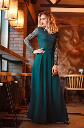 """Нарядное приталенное макси платье """"Ramira"""" с открытой спиной (3 цвета), фото 2"""