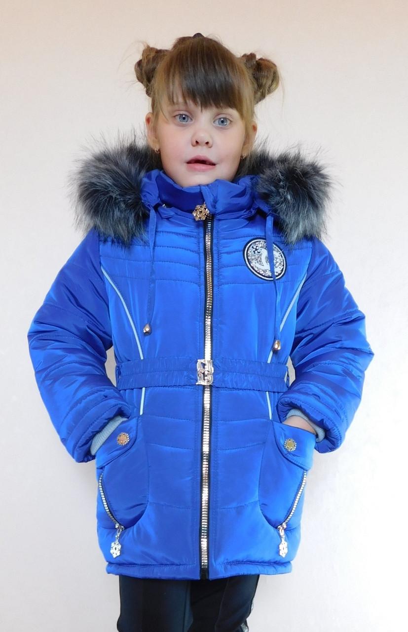 5a63b6393c8 Зимняя куртка для девочки синяя