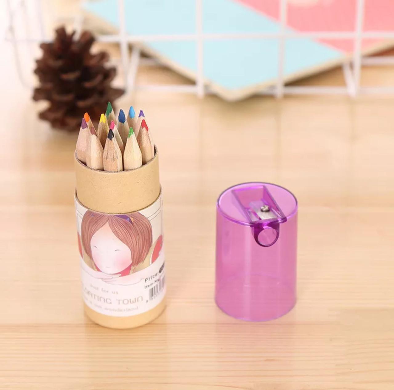 Набор деревянных карандашей в тубусе с крышкой-точилкой «Art»(12 шт)