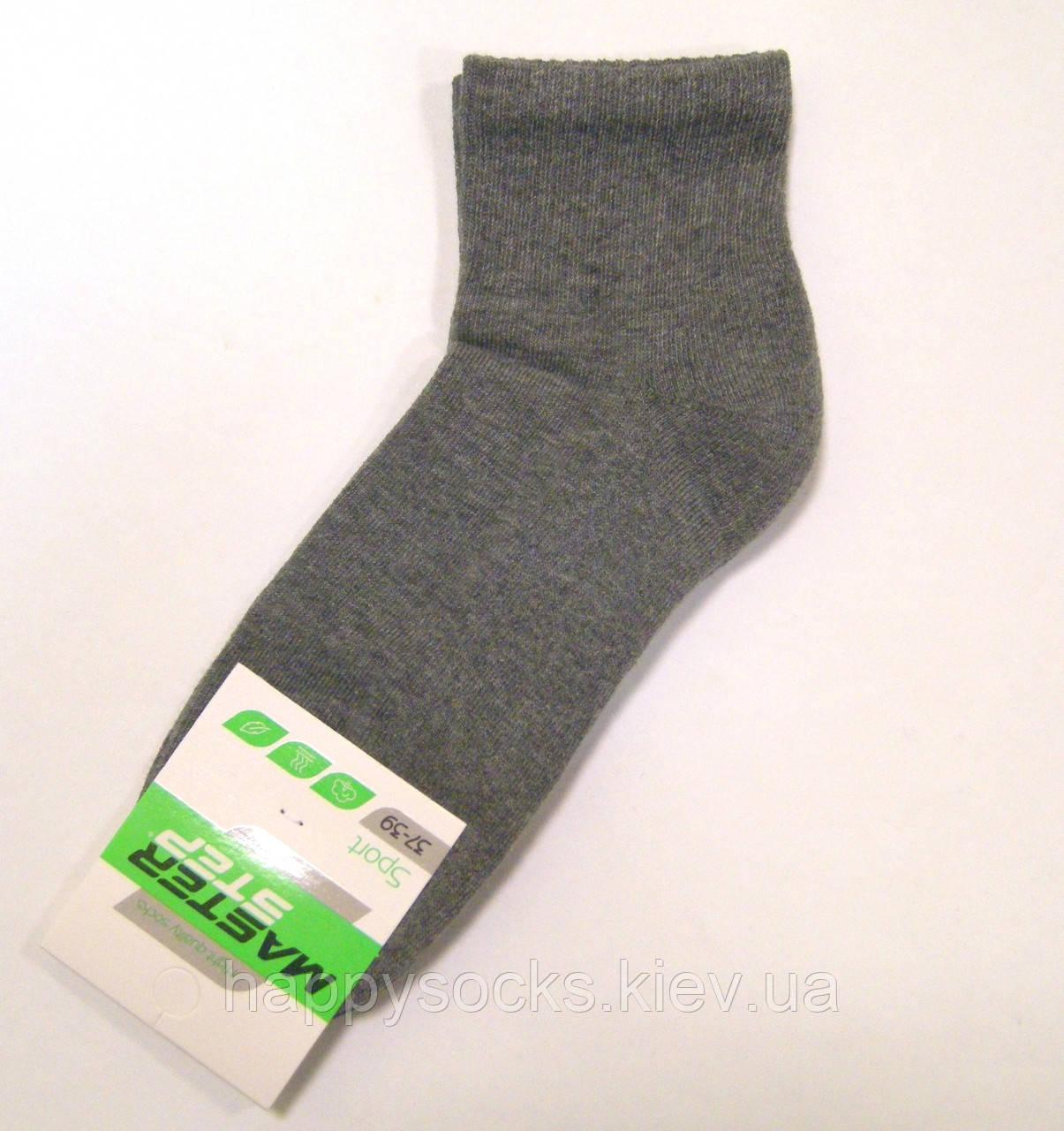 Носки хлопковые с махровым следом серого цвета