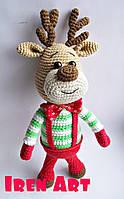 Різдвяний олень Марлі іграшка ручної роботи
