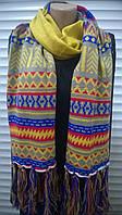 Яркий многоцветный  шарф  с этническим  рисунком