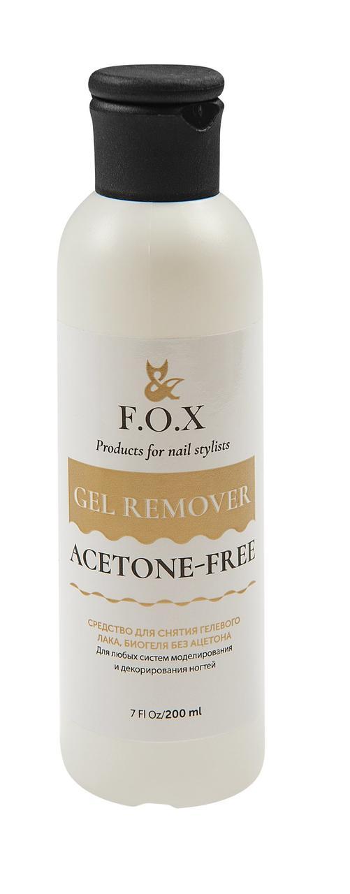 Средство для снятия гель-лака без ацетона F.O.X Gel remover ACETONE-FREE 200 мл.