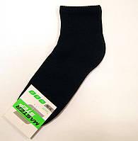 Носки хлопковые однотонные с махровым следом мужские черного цвета