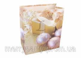 Пакет подарочный новогодний 14*12*7 см