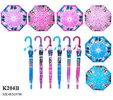 Зонт F K204B 60шт5 6 видов, со свистком, в пакете 49 см