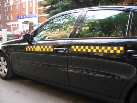 Шашечки такси + Реклама на авто