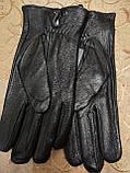 Кожа ОЛЕНЬ натуральная с шерсти сетка мужские перчатки/Перчатки мужские кожаные только оптом, фото 3